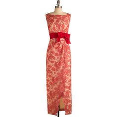 Vintage In Full-Length Bloom Dress ($50) ❤ liked on Polyvore