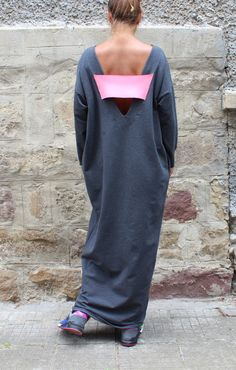 Check out this item in my Etsy shop https://www.etsy.com/listing/241159379/dark-grey-caftan-dress-oversized-dress