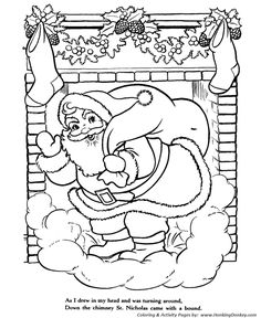 twas the night before christmas a visit from st nicholas christmas classic story poem coloring pages