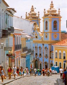 Portuguese influence in brazilian architecture - Pelourinho | Salvador, Bahia, Brazil (South America)