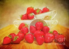 Strawberry Tea Canvas Print by Hal Halli. All canvas prints are professionally printed, assembled, and shipped within 3 - 4 business days and delivered ready-to-hang on your wall. Choose from multiple print sizes, border colors, and canvas materials. Strawberry Tea, Canvas Art, Canvas Prints, Inspirational Wall Art, Got Print, Hanging Wire, Canvas Material, Fruit, Thanksgiving