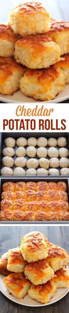 Cheddar Potato Rolls _ The BEST! These are nothing short of amazing! I can't even count how many people asked for this recipe! They're extra perfect for any special occasion!