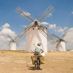 "Not long ago, in the dry plains of La Mancha, there lived a gentleman of epic bravery and shiny armor. That man is former security guard José Ramón Gándara Alonso (@traslospasosdelquijote). Amazed by the heroism (and insanity) of Don Quixote, the title character of the novel by Miguel de #Cervantes, José Ramón quit his job to study photography and become the ""21st Century Man of La Mancha."" Last summer, he built handmade armor out of upcycled goods — his shield was a former waiting tray and…"