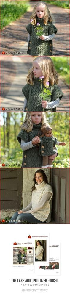 The Lakewood Pullover Poncho crochet pattern