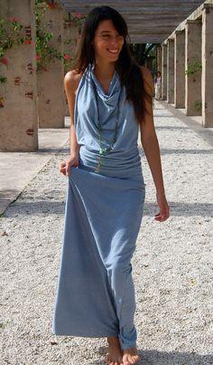 Awesome dress......White Tara Halter Dress Organic cotton hemp by Gratefulthreads, $140.00