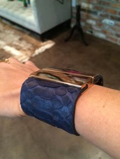 In LOVE with our new Staci cuff, shown in navy - and she's reversible! <3 #presmer #python #happyfriday www.presmer.com