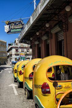 Coco taxi in Cuba