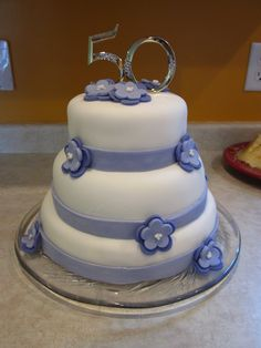 Fondant: 50th Wedding Anniversary