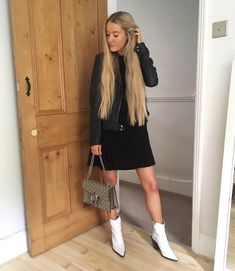 ShopStyle Look by astyleisborn featuring Na Kd NA-KD mini pleated panel shift dress with short sleeves in black and New Look tie waist detail shirt dress in black Day Dresses, Short Dresses, New Look, Fashion Looks, Short Sleeves, Boots, Shop, Shirts, Outfits