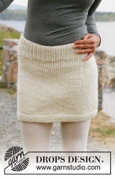 Snowbell Short Skirt Free Women's Knitting Pattern by Drops Design. Skill Level: Easy Size: S – M – L – XL – XXL – XXXL Easy to knit miniskirt pattern! Free Pattern More Patterns Like This! Crochet Skirts, Knit Skirt, Knit Crochet, Knit Lace, Sweater Skirt, Knitting Patterns Free, Knit Patterns, Free Knitting, Knitting Yarn