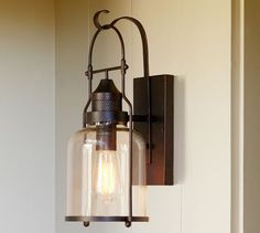 Taylor Indoor/Outdoor Sconce | Pottery Barn: omg adorable for ...