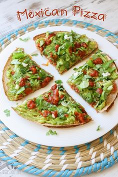 "Junk food gone healthy! This vegan Mexican Pizza is filled with protein, fresh veggies and plenty of flavor. Eating ""bad"" never felt so good!"