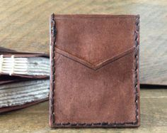 leather card holder- hand stitched
