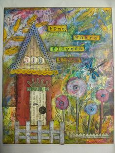 """Home where flowers bloom"" 8x10"