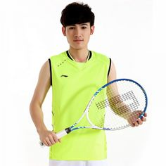 Li Ning China Badminton Team 2015 All England Open Badminton Championships Men's Badminton Sleeveless Shirts On Sale Men's Badminton, Badminton Clothing, Badminton Championship, Shirt Sale, Sleeveless Shirt, Rackets, Tennis Racket, Snowshoe