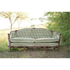 The antique couch we are renting to use at our Wedding.