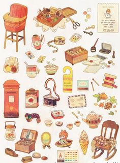 24 Ideas How To Draw Cute Girls Portfolio Ideas Doodles, Prop Design, Planner, Food Illustrations, Cute Illustration, Cute Drawings, Painting & Drawing, Art Reference, Decoupage