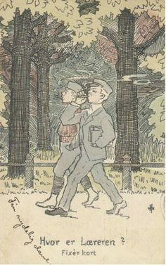 Kunstnerkort Humorkort Othar Holmboe Utg Mittet brukt 1907