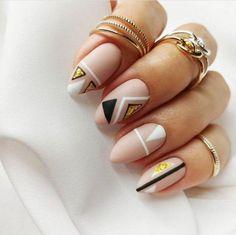 25 Stunning Minimalist Nail Art Designs – The Best Nail Designs – Nail Polish Colors & Trends Toe Nail Art, Nail Art Diy, Easy Nail Art, Diy Nails, Cute Nails, Nail Nail, Oval Nail Art, Acrylic Nails, Glitter Nails