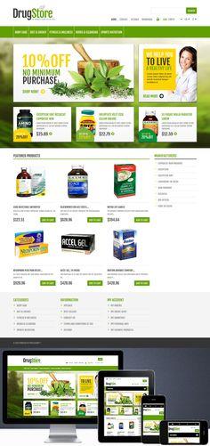 Nom : Drug Store - CMS : Prestashop - Designer : Hermes