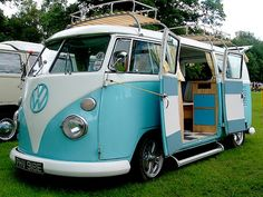 vw camper -my dream vehicle :) I have always wanted one and in this colour.