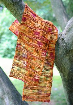 Free Silk Knit Scarf Pattern #knit #pattern