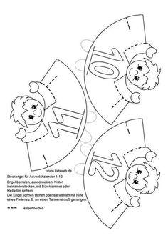 Christmas Crafts For Kids, Christmas Holidays, Free Preschool, Math Games, Craft Activities, Kindergarten, Stencil, Creations, Pattern