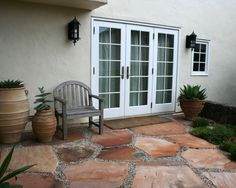 Love the stone patio.