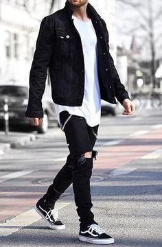 Cool Outfits For Men, Stylish Mens Outfits, Simple Outfits, Trendy Mens Fashion, Mens Fashion Suits, Fashion Menswear, Men's Fashion, Urban Fashion Men, Winter Fashion