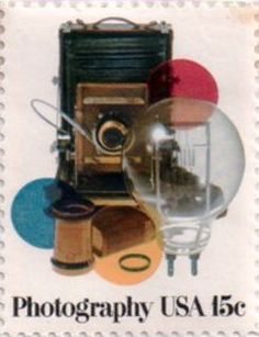 US postage stamp, 15 cents.   Photography.  Issued 1978.  Scott catalog 1758.