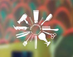 decoración de peluquerías con vinilos, adhesivos y pegatinas decorativas