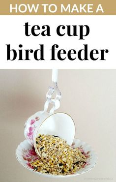 You are going to love this DIY Tea Cup Bird Feeder! The snow is melting and spring is just around the corner (yay!).
