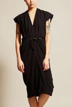 Miranda Bennett Vision Dress in Black Cotton Gauze