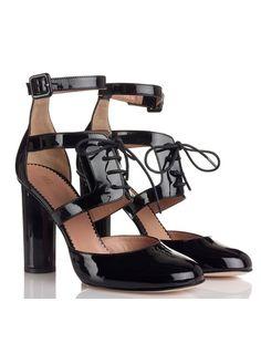 Sandales à talons vernies Noir by RED VALENTINO