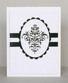 lovely handmade card in black & white ... clean lines ... good design ...