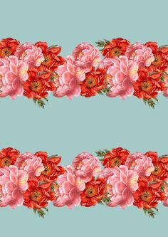 vintage floral pattern by laura redburn