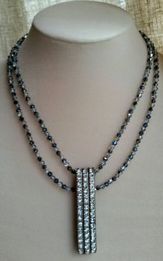 Check out this item in my Etsy shop https://www.etsy.com/ca/listing/248949604/crystal-and-rhinestone-multistrand