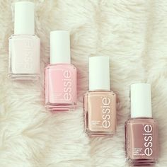 Essie nail polish, I ♡ skin tones and pastels!!!!!