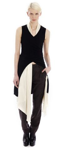 Black Tux Back Knit Vest