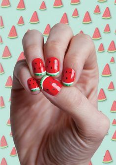 12 Wonderful Watermelon DIY's.  I've done this with the girls