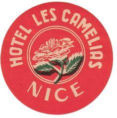 in Nice, France Lettering, Typography Design, Branding Design, Logo Design, Design Design, Nice, Vintage Stamps, Vintage Ephemera, Vintage Graphic Design
