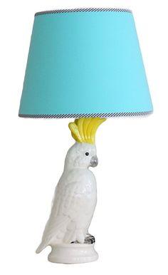 Fabulous custom made ceramic cockatoo lamp. Handmade in Australia.