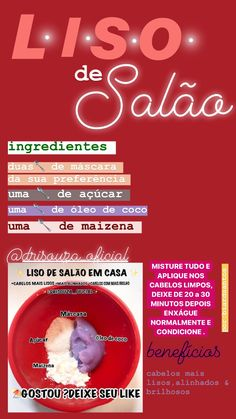 Pin on cabelo ‍ Hair Care Recipes, Skin Care Spa, Tips Belleza, Smooth Hair, Dream Hair, Hair Health, Spa Day, Diy Hairstyles, Hair Hacks