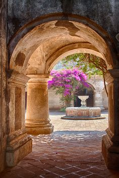 Spanish #CourtYard #Landscape #Outdoor ༺༺ ❤ ℭƘ ༻༻