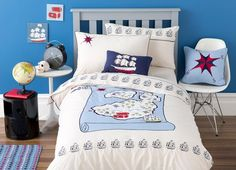 Pirate Bedding Sets, Quilt & Duvet Covers for Kids - Kids Bedding Dreams Baby Nursery Themes, Bedroom Themes, Kids Bedroom, Map Nursery, Bedroom Ideas, Bedrooms, Kids Bedding Sets, Best Bedding Sets, Pirate Bedding