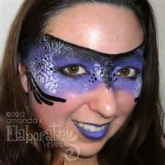 mardi gras painted face mask - Yahoo Image Search results