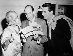 "Doris, Carl Reiner, and James Garner, 1963.Behind the scenes of ""The Thrill Of It All""."