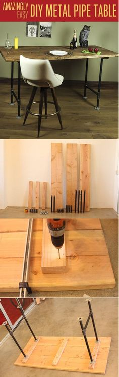 metal pipe table