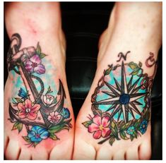 OMG! So pretty!! I love this one, I have not been able to find a good foot tattoo idea that involves both feet that I like so much!!!!!