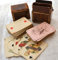 Dainty Antique Deutsches Reich Funfzig - Miniature German Playing Cards Set